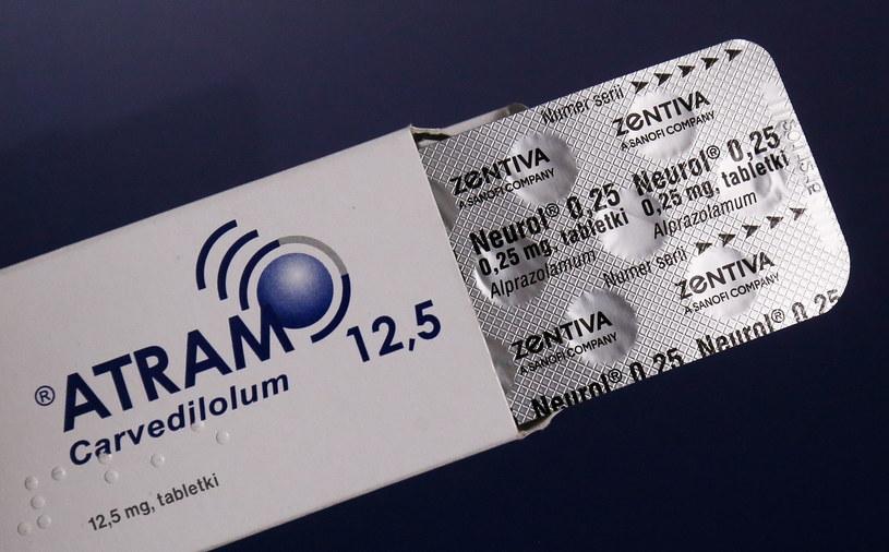 Lek kardiologiczny Atram z jednej z wycofywanych serii /Paweł Supernak /PAP