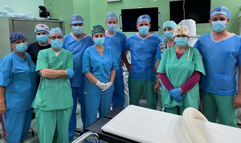 Lekarze, którzy przeprowadzili operację /Szpital Miejski nr 4 w Gliwicach /Archiwum