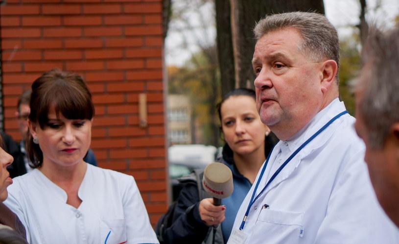 Lekarze podczas konferencji prasowej /Andrzej Grygiel /PAP