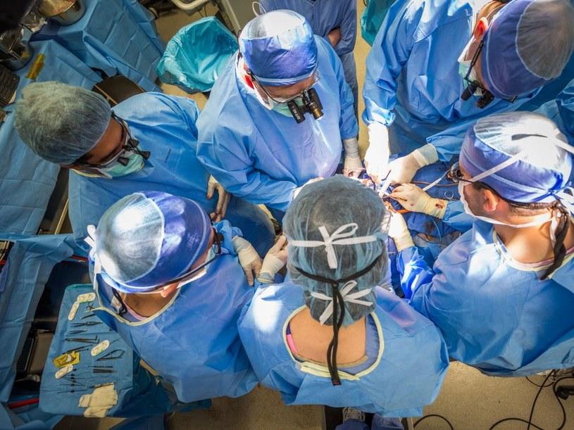 Lekarze podczas przeszczepu twarzy /materiały prasowe