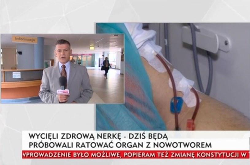 Lekarze wycięli zdrową nerkę, dziś spróbują uratować tę z nowotworem /INTERIA.PL/TVP Info