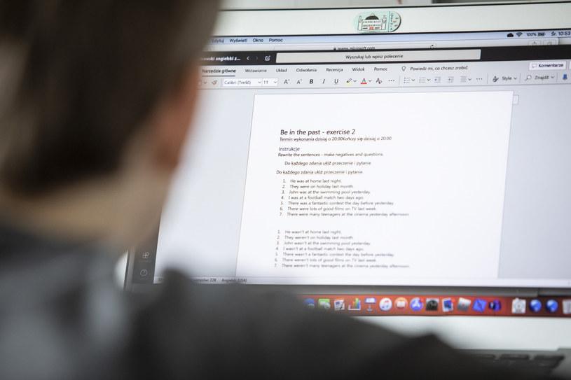 Lekcje online; zdj. ilustracyjne /KFP /Reporter
