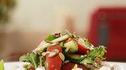 Lekka sałatka warzywna z mozzarellą