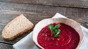 Lekka zupa krem z buraków i malin