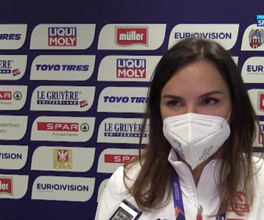 Lekkoatletyka. Joanna Jóźwik: To świetne uczucie móc znowu biegać po bieżni z flagą (POLSAT SPORT). Wideo