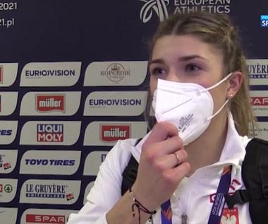 Lekkoatletyka. Kornelia Lesiewicz: Biegłam, ile tylko miałam sił w nogach (POLSAT SPORT). Wideo