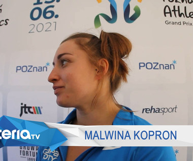 Lekkoatletyka. Malwina Kopron: Moja forma jest stabilna. Wideo