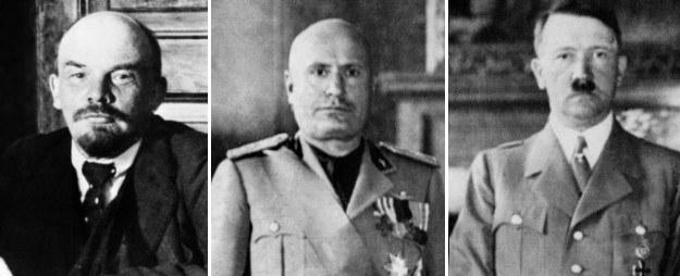 Lenin, Mussolini i Hitler /AFP