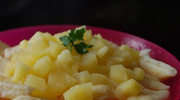 Leniwe pierogi z sosem jabłkowym (po 11. miesiącu)