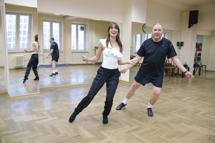 Lenka Klimentova i Bogdan Kalus podczas próby /AKPA