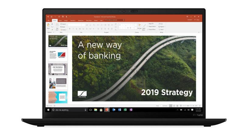 Lenovo zadbało o to, aby korzystanie z ThinkPada X1 Nano było bezpieczne /materiały promocyjne