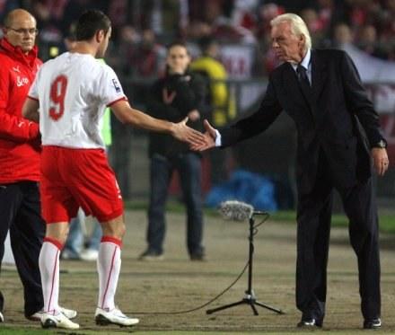 Leo Beenhakker podał rękę Brożkowi już 20 razy! / fot. Łukasz Grochala /Agencja Przegląd Sportowy