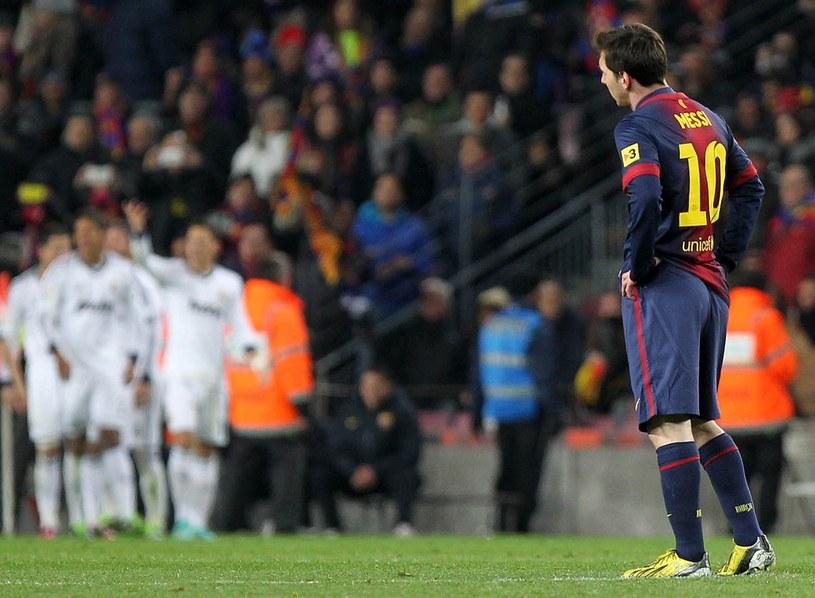 Leo Messi był bezradny w meczu z Realem /AFP