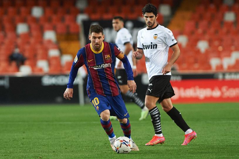 Leo Messi i FC Barcelona w meczu z FC Valencia /ZUMA/NEWSPIX.PL /Newspix