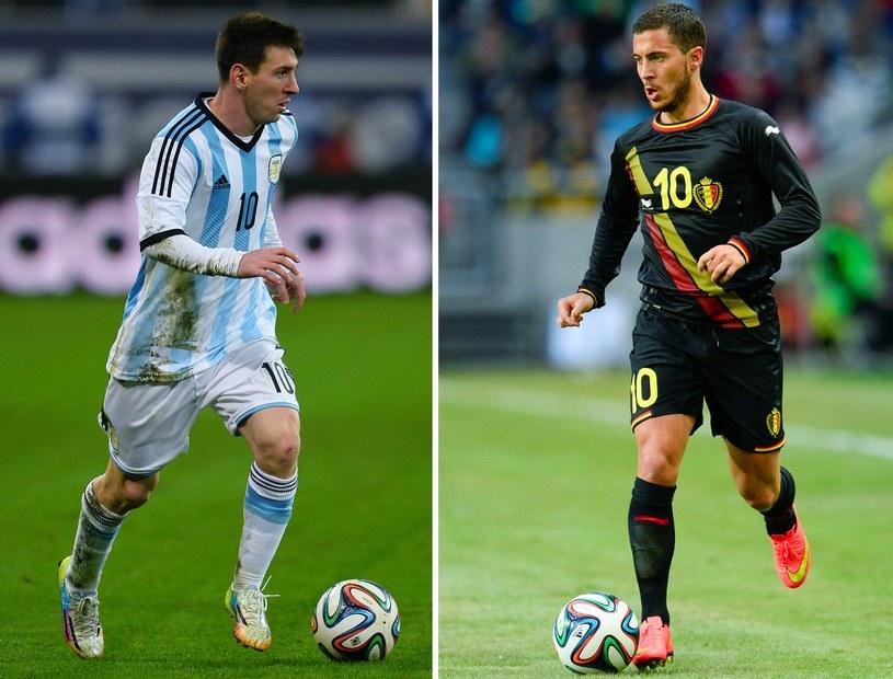 Leo Messi i lider Belgów Eden Hazard /AFP