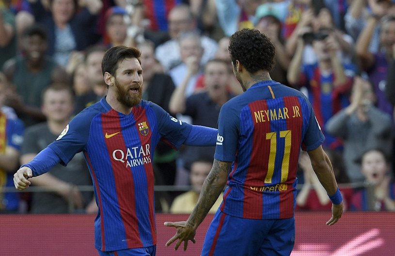 Leo Messi i Neymar z FC Barcelona /AFP
