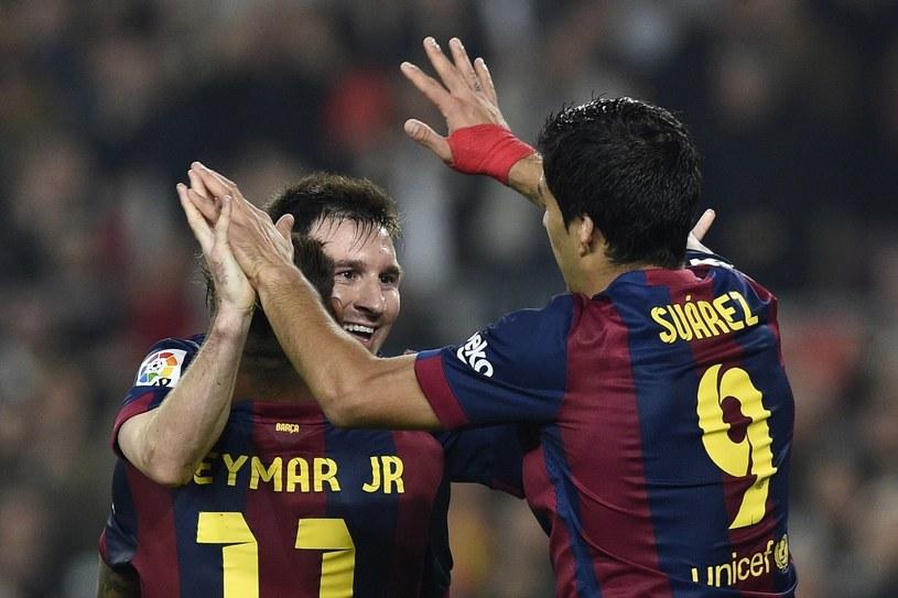 Leo Messi, Luis Suarez i Neymar dzisiaj nie zagrają /AFP
