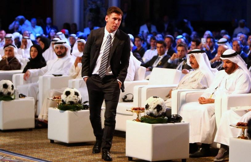 Leo Messi na gali Globe Soccer Awards /AFP