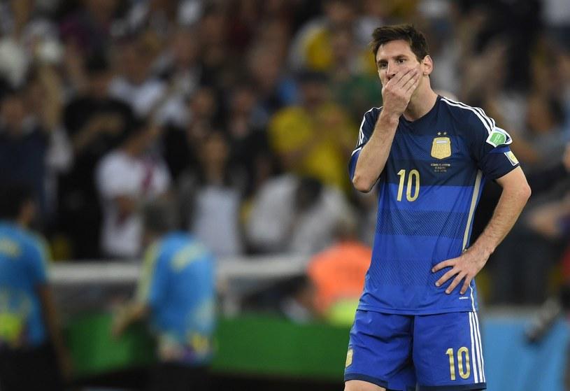 Leo Messi nie zagra w meczu z Niemcami /AFP