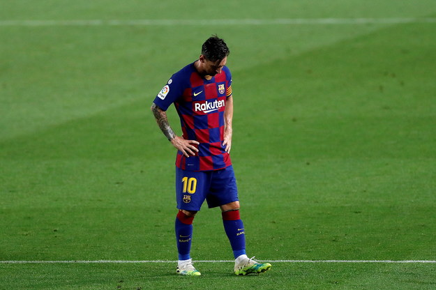 Leo Messi po ligowej porażce /ALBERTO ESTEVEZ /PAP/EPA