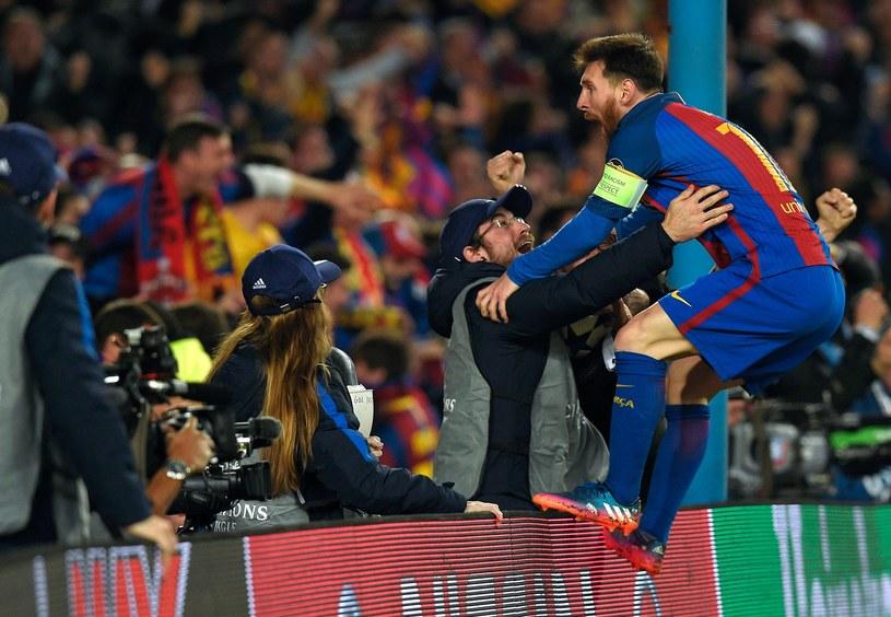 Leo Messi szaleje po ostatniej bramce Barcelony /AFP