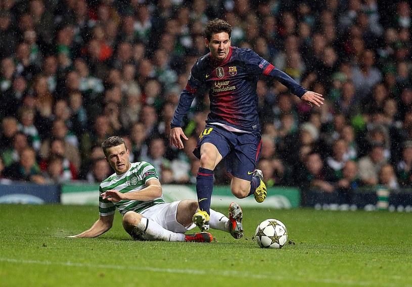 Leo Messi w meczu z Celtikiem /AFP
