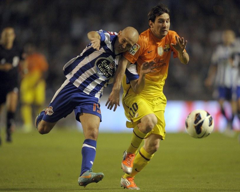Leo Messi w meczu z Deportivo raz jeszcze pokazał wielką klasę /AFP