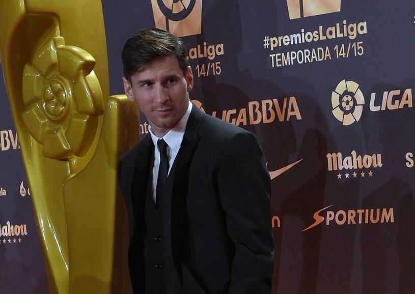 Leo Messi w poniedziałek został ogłoszony najlepszym piłkarzem minionego sezonu w Hiszpanii /AFP