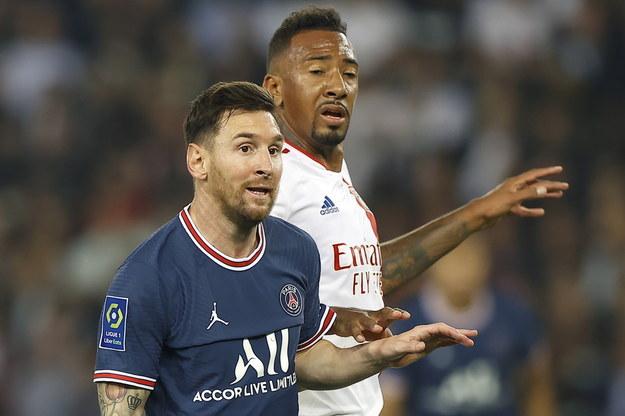 Leo Messi w trakcie meczu PSG - Olympique Lyon /IAN LANGSDON /PAP