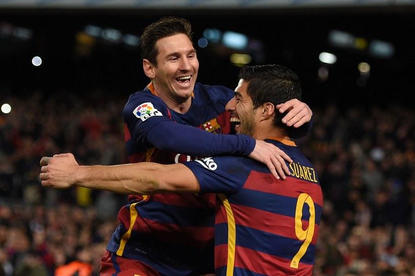 Leo Messi (z lewej) i Luis Suarez /AFP