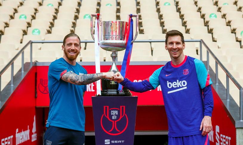 Leo Messi (z prawej) i Iker Muniain /PAP/EPA
