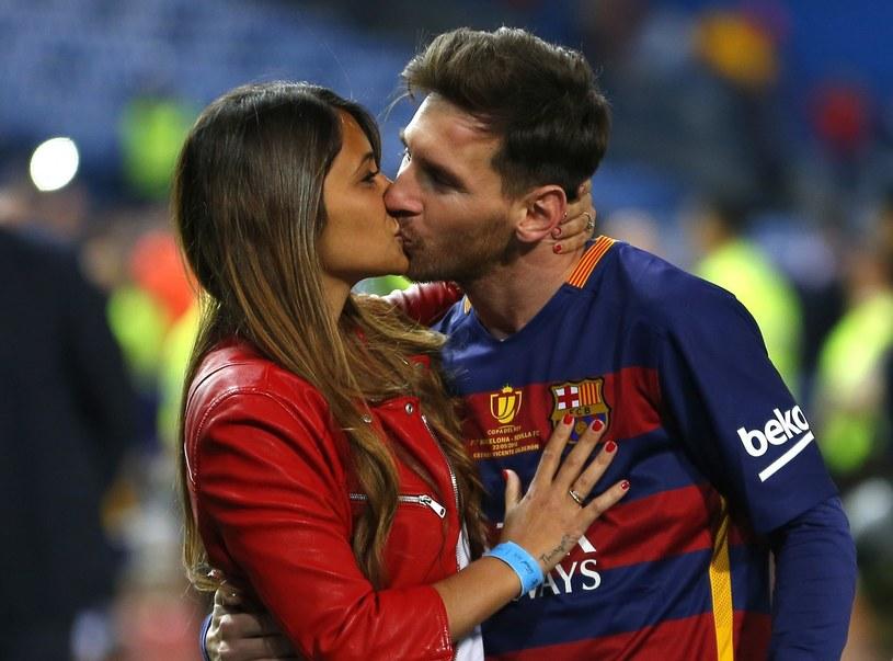 Leo Messi z żoną /East News