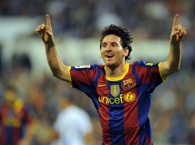Leo Messi zapewnił Barcelonie zwycięstwo w Saragossie. /AFP