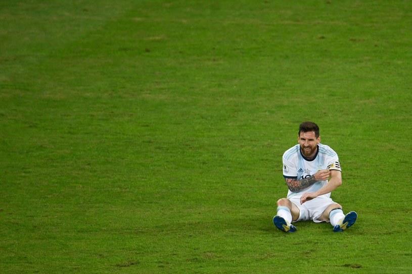 Leo Messi, zrezygnowany po porażce /AFP
