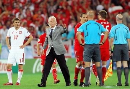 Leo podczas meczu z Austrią na Euro 2008 /AFP