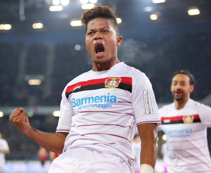 Leon Bailey strzelił dwa gole w meczu z Hannover 96 /PAP/EPA