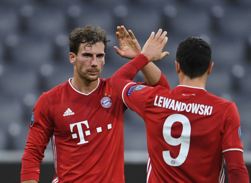 Leon Goretzka i Robert Lewandowski /Andreas Gebert /East News