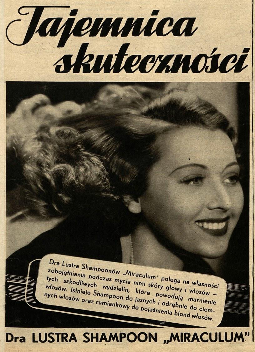 """Leon Luster nie szczędził grosza na reklamę. Tutaj reklama szamponu zamieszczona w jednym z numerów poczytnego """"Światowida"""" (domena publiczna) /Ciekawostki Historyczne"""