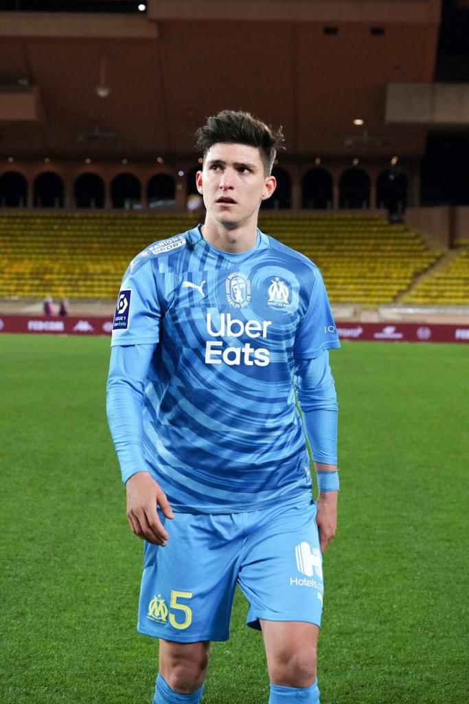 Leonardo Balerdi otrzymał czerwoną kartkę /Olympique Marsylia /Getty Images