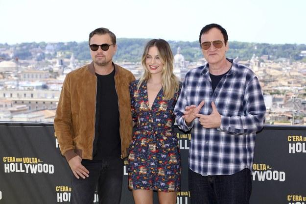 Leonardo Di Caprio, Margot Robbie i Quentin Tarantino /Marco Provvisionato / IPA /PAP/PA