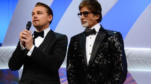 Leonardo DiCaprio i Amitabh Bachchan - hollywoodzka i bollywoodzka gwiazda kina/fot. P. Le Segretain /Getty Images/Flash Press Media