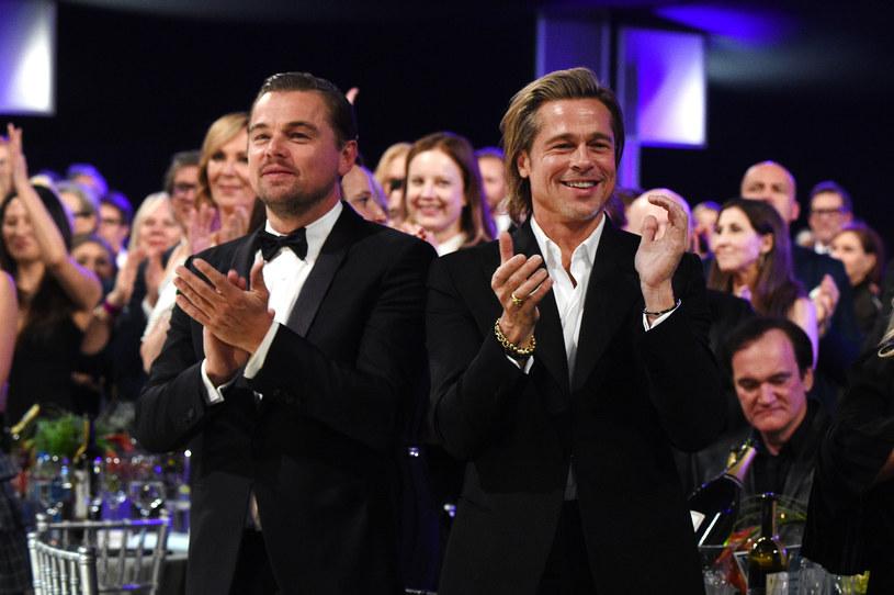 Leonardo DiCaprio i Brad Pitt podczas gali SAG /Kevin Mazur /Getty Images