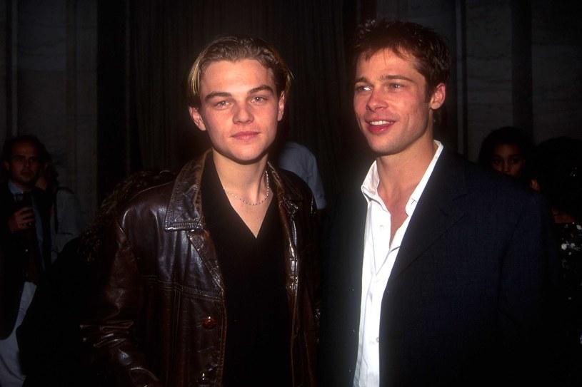 Leonardo DiCaprio i Brad Pitt w 1995 roku /Patrick McMullan /Getty Images