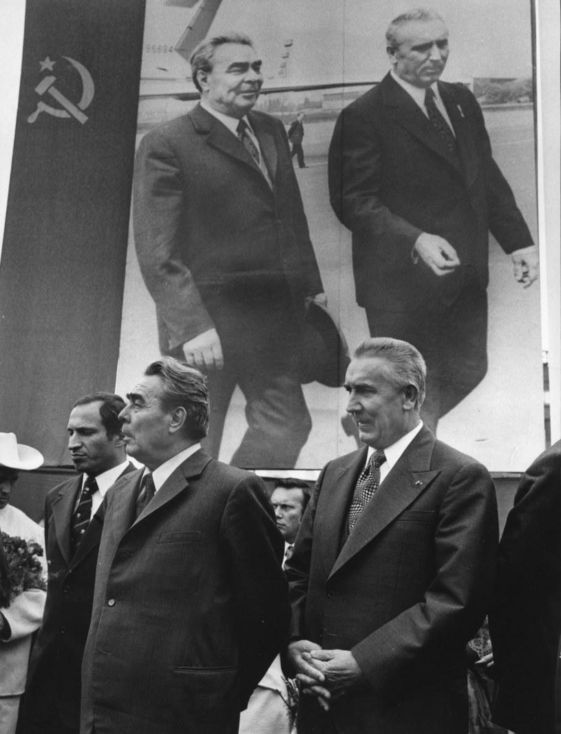 Leonid Breżniew, sekretarz generalny KC KPZR i Edward Gierek, I sekretarz KC PZPR /Jan Morek /Agencja FORUM