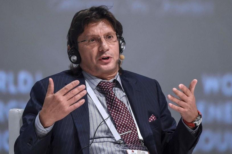 Leonid Fedun podczas światowego kongresu energatycznego w Stambule /AFP