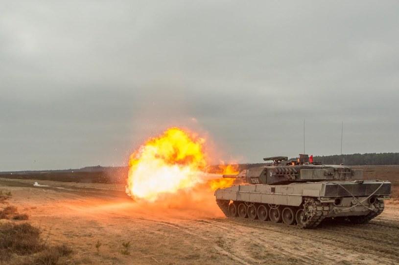 Leopard 2A5 na poligonie. Fot. chor. Rafał Mniedło. /materiały prasowe