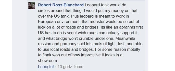 """""""Leopard może kręcić kółka wokół tego czegoś..."""" /Facebook /INTERIA.PL"""