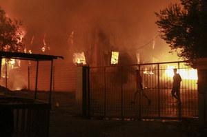 Lesbos: Pożar w ośrodku dla uchodźców Moria. W obozie ponad 12 tys. ludzi