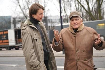 """Lesław Żurek i Janusz Morgenstern na planie filmu """"Mniejsze zło"""" /materiały dystrybutora"""
