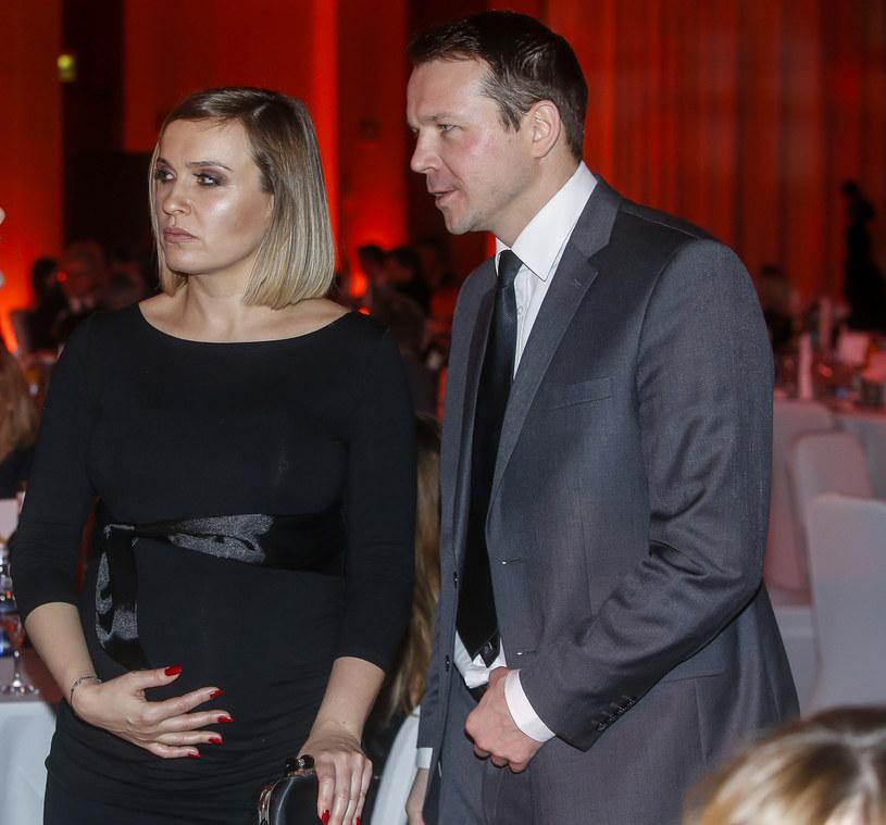Lesław Żurek z żoną /Baranowski /AKPA